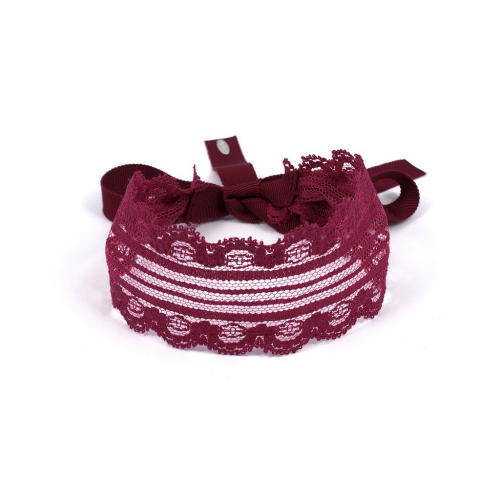 Joomi Lim☆Scalloped Lace Choker - Bordeaux☆チョーカー