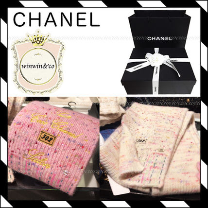 17AW【国内発送】CHANEL★キュートなマフラー2色★ギフトにも