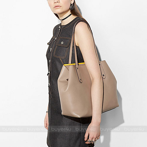 COACH★LARGE MARKET TOTE IN POLISHED PEBBLE LEATHER 58737
