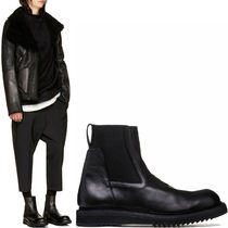 17-18AW RO127 CREEPER ELASTIC BOOTS IN BLACK LEATHER