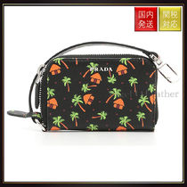 PRADA(プラダ) バッグ・カバンその他 【プラダ】Saffiano Coin Pouch With Palm Print バッグ