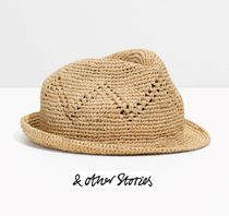 & Other Stories(アンドアザーストーリーズ) ストローハット 日本未入荷 & Other Stories オープンワークフェドラハット