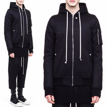 RICK OWENS(リックオウエンス) ブルゾン 17-18AW RO133 HOODED FLIGHT BOMBER JACKET IN STRONG COTTON
