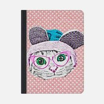 ★Casetify★iPadケース:CUTE FUNNY KITTY CAT WITH GEEK NERD