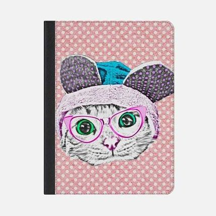 Casetify iPad・タブレットケース ★Casetify★iPadケース:CUTE FUNNY KITTY CAT WITH GEEK NERD
