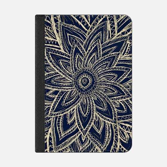 ★Casetify★iPadケース:CUTE RETRO GOLD ABSTRACT FLOWER DR