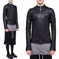 17-18AW RO136 RICK S JACKET IN BLACK RAM LEATHER aabd56f2b6e3c