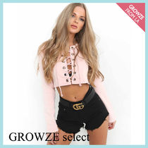 【GROWZE select】新作☆ピンク レースアップ セーター☆