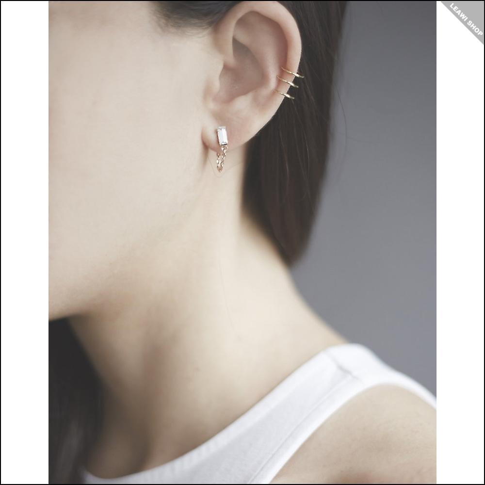 関税送料込☆BING BANG☆Baguette Continuous Earrings ピアス