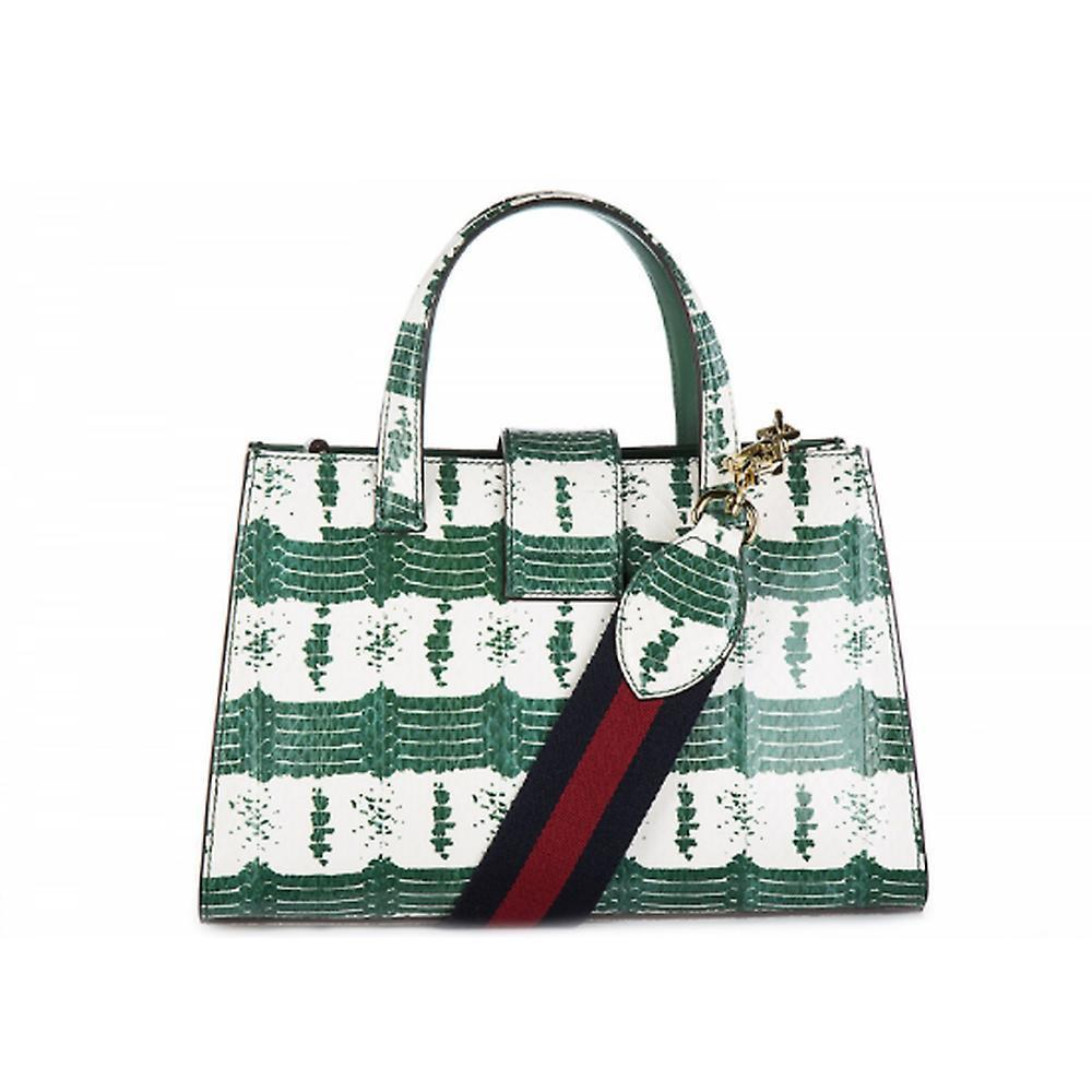 ◆GUCCI グッチ レザー ハンドバッグ nymphaea Verde