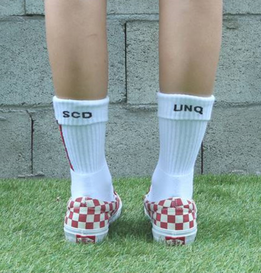 ☆SECOND UNIQUE NAME☆  SUN SOCKS BASIC RED