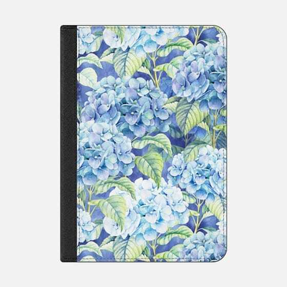 ★Casetify★iPadケース:BOTANICAL PINK BLUE WATERCOLOR HOR