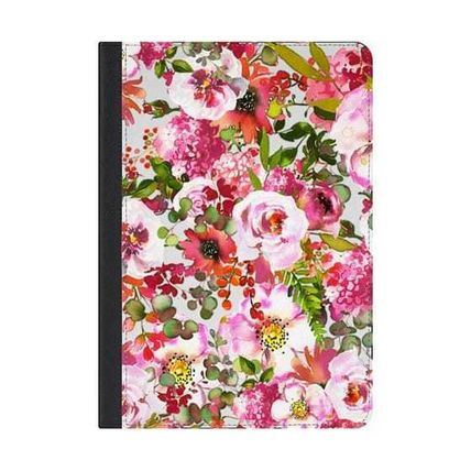 Casetify iPad・タブレットケース ★Casetify★iPadケース:CHIC FLORAL PATTERN PINK ORANGE PAS