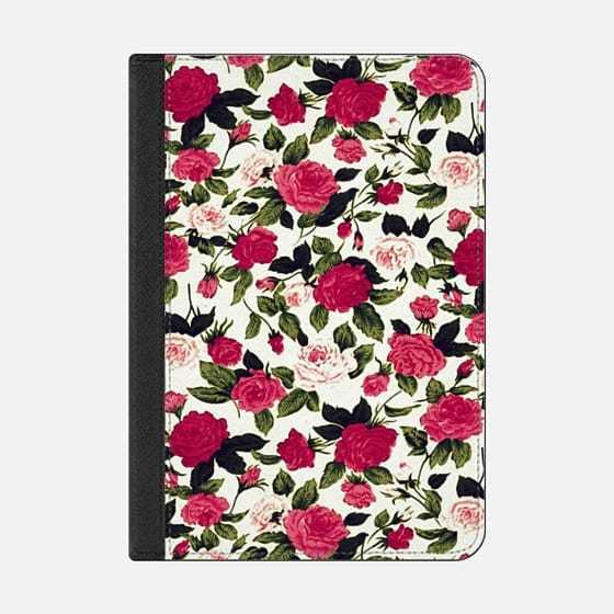 ★Casetify★iPadケース:PRETTY PINK ROSES FLOWERS PATTERN