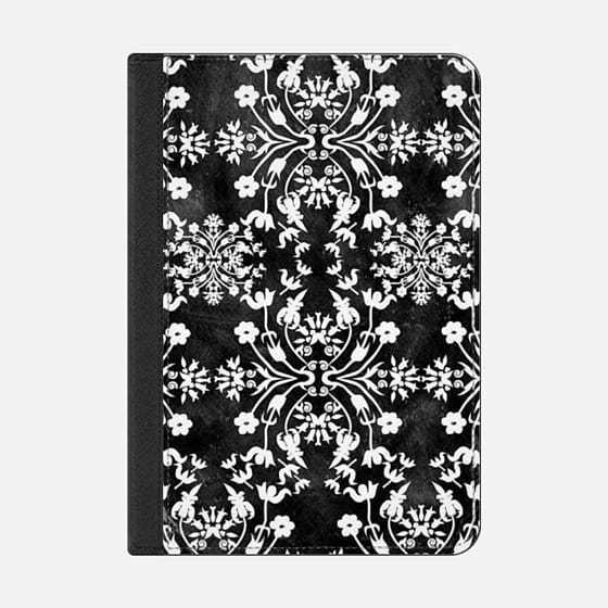 ★Casetify★iPadケース:FLOWER LACE BIG(BLACK)