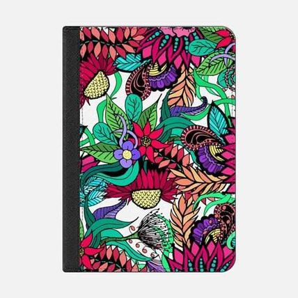 Casetify iPad・タブレットケース ★Casetify★iPadケース:GIRLY VIBRANT FLOWER GARDEN IN PINKS