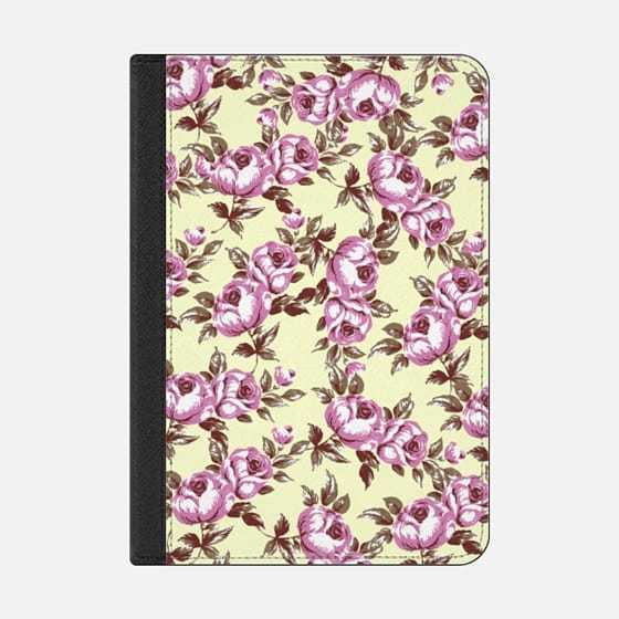 ★Casetify★iPadケース:VINTAGE PINK FLOWERS PATTERN ON PAL