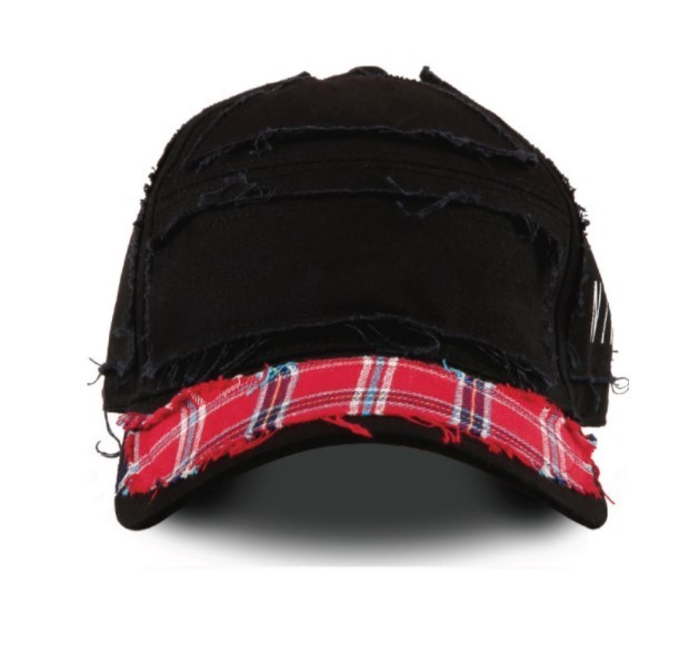 23.65 x NTNP Black/Red check CAP 国内発送