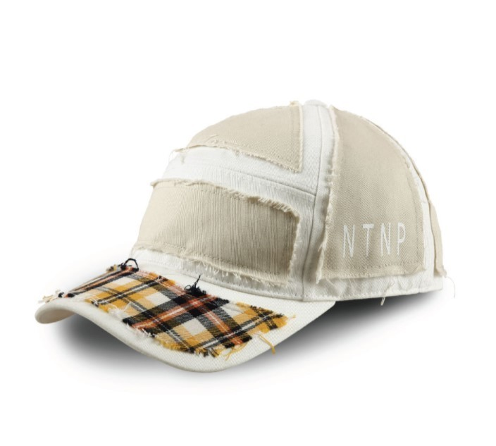 23.65 x NTNP White/Yellow check CAP 国内発送
