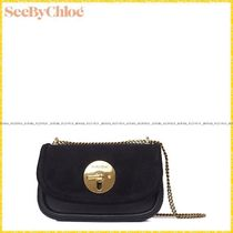 【See by Chloe】Lois Clutch Evening Bag/スエードブラック
