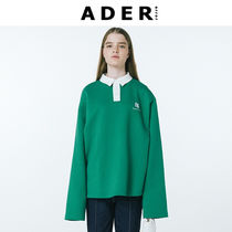 ADERERROR(アーダーエラー) ポロシャツ ◆ADERERROR◆Rugby team pique shirt 配色 ポロシャツ グリーン