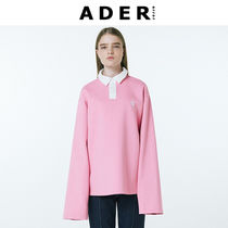 ADERERROR(アーダーエラー) ポロシャツ ◆ADERERROR◆Rugby team pique shirt 配色 ポロシャツ ピンク