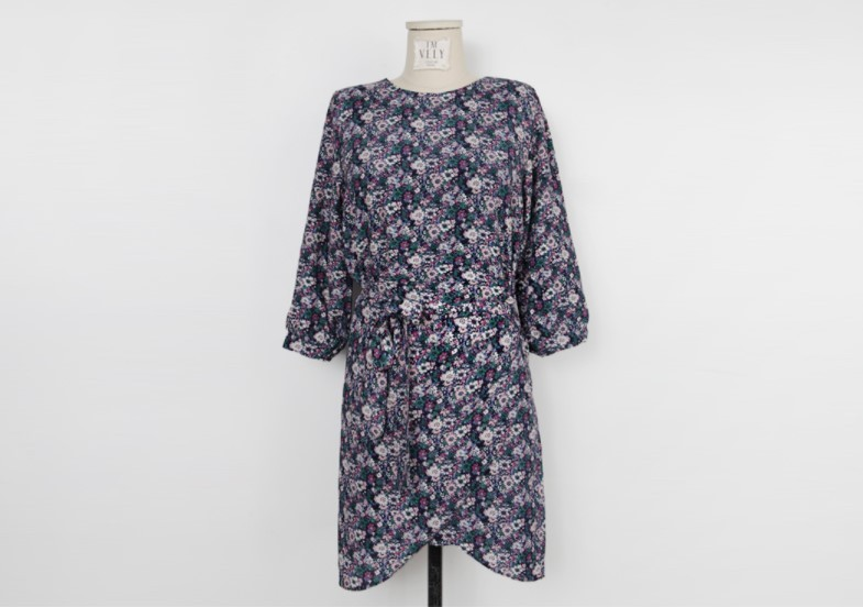 Side Tie Floral Dress 国内発送