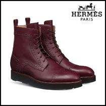 【HERMES】エルメス Notting Hill Calfskin lace-up ankle boot