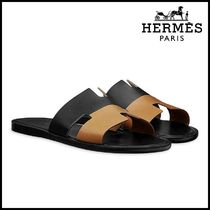 【HERMES】エルメス Izmir Calfskin sandals with leather sole