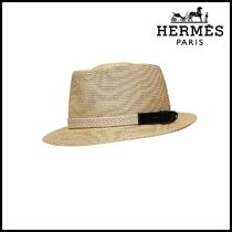 【HERMES】エルメス Malo Woven paper hat with hat band
