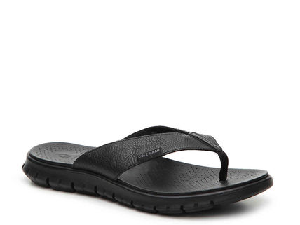 セール☆COLE HAAN Men's ZEROGRAND Fold Thong Sandal 黒