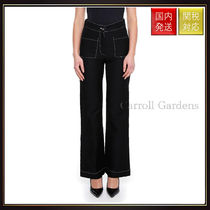 【ロエベ】Flare Trousers With Contrast Stitching パンツ