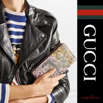 【国内発送】GUCCI 財布 Leather-trimmed printed wallet
