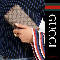 【国内発送】GUCCI 長財布 Coated-canvas continental wallet