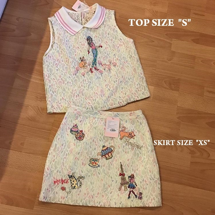 LYN Around Set of Top(SizeXS) and Skirt(Size XS)