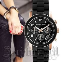 ★安心ヤマト便★Michael Kors Black Polyurethane Watch MK6128