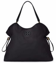 TORY BURCH NYLON SLOUCHY TOTE 22159522 BLACK/NAVY