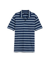 Custom Fit Striped Cotton Polo