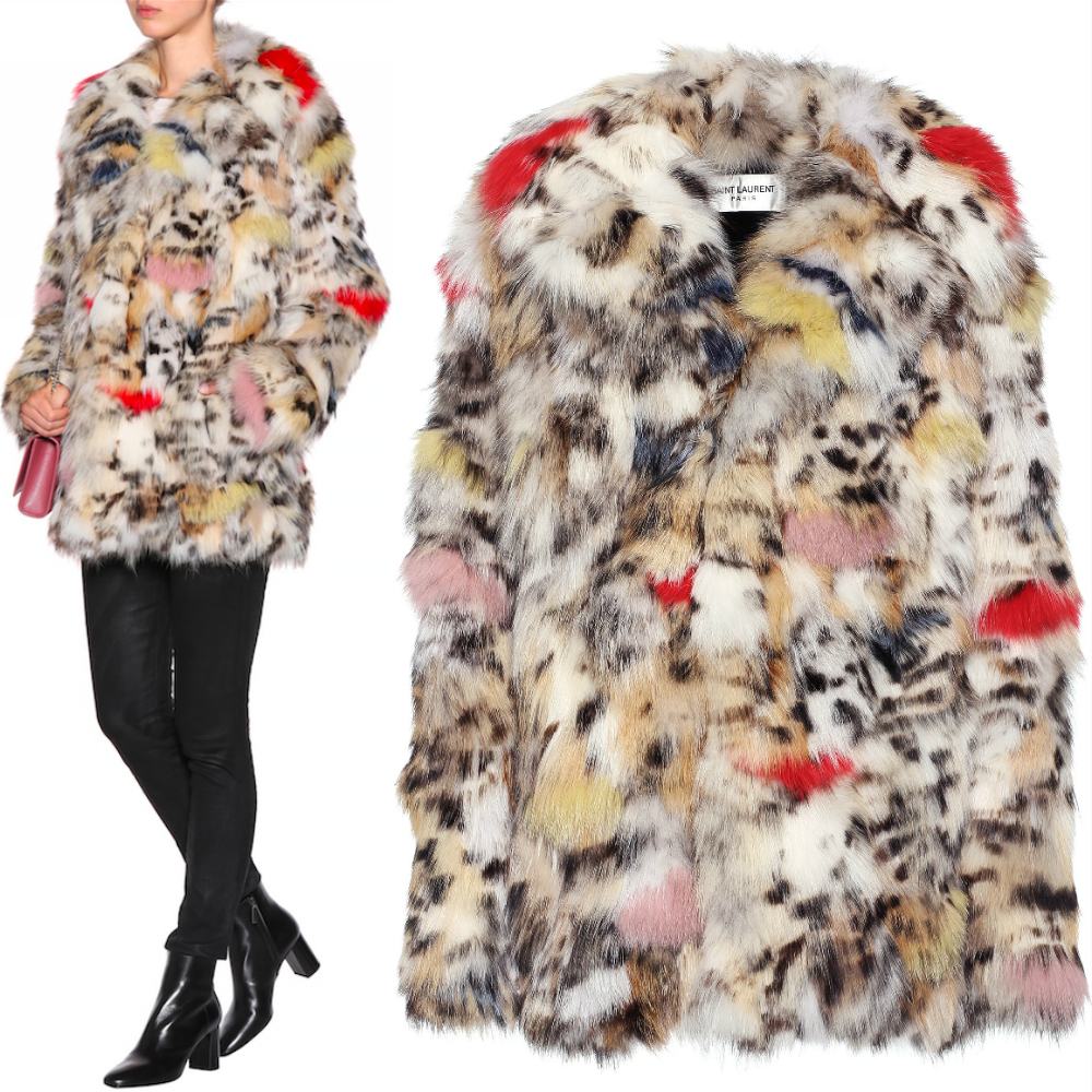 17-18AW WSL1081 MULTICOLORED FOX FUR COAT
