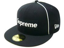 Supreme(シュプリーム) 帽子その他 7 3/8  Supreme Piping Box Logo New Era Cap ネイビー Navy