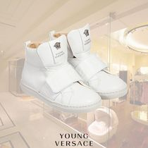 YOUNG VERSACE(ヤングヴェルサーチ) スニーカー YOUNG VERSACE/ボーイズホワイトレザーハイトップスニーカー