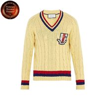 GUCCI(グッチ) ニット・セーター 【国内発・送関込】グッチ-Crest-appliquecable-knit sweater