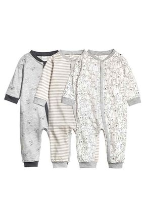 *H&M baby ★50-90《3点セット》オールインワンパジャマ