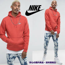 Nike(ナイキ) パーカー・フーディ Nike Club Pull Over Hoodie With Swoosh Logo In Red ♪