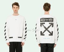 【2017-18AW】Off-White DIAG BRUSHED スウェット 白