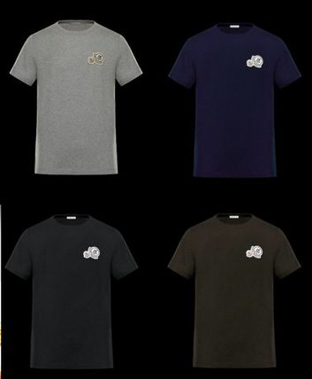MONCLER Tシャツ・カットソー 完売必至★Moncler★2017AW新作★胸ワッペンTシャツ★4色展開