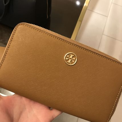 Tory Burch ROBINSON ZIP CONTINENTAL WALLET★茶色