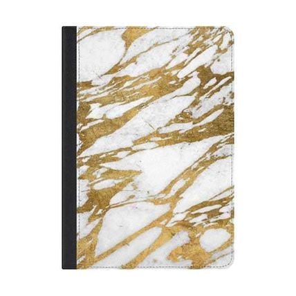 Casetify iPad・タブレットケース ★Casetify★iPadケース:ELEGANT CHIC FAUX GOLD AND WHITE MAR
