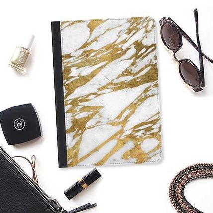 Casetify iPad・タブレットケース ★Casetify★iPadケース:ELEGANT CHIC FAUX GOLD AND WHITE MAR(2)