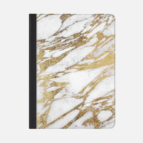 ★Casetify★iPadケース:ELEGANT CHIC FAUX GOLD AND WHITE MAR